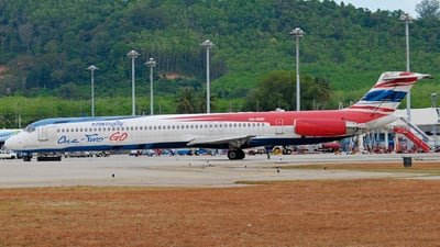 HS-OMC - McDonnell Douglas MD-82 - One-Two-GO by Orient Thai