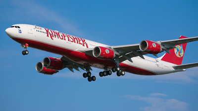 F-WWTK - Airbus A340-542 - Kingfisher Airlines