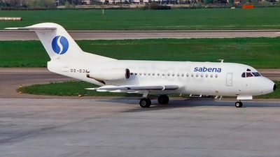 OO-DJA - Fokker F28-3000 Fellowship - Sabena (Delta Air Transport)