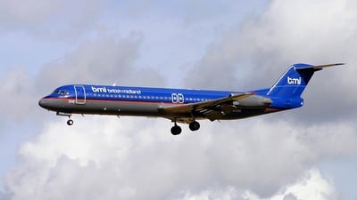 G-BXWE - Fokker 100 - bmi British Midland International