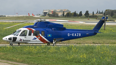 A picture of GKAZB - Sikorsky S76C++ - Bristow Helicopters - © Peter Tonna