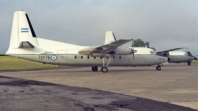 TC-76 - Fokker F27-400M Troopship - Argentina - Air Force