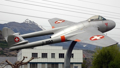 J-1190 - De Havilland Vampire FB.6 - Switzerland - Air Force