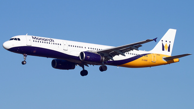 G-OZBD - Airbus A321-231 - Monarch Airlines