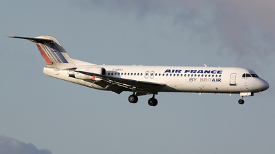 F-GPXJ - Fokker 100 - Air France (Brit Air)
