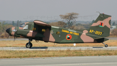 AF-207 - Dornier Do-28 Skyservant - Zambia - Air Force