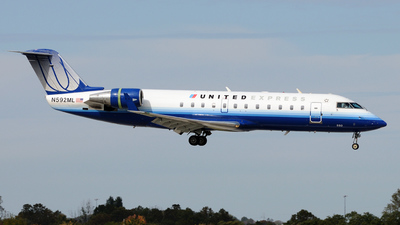 N592ML - Bombardier CRJ-200LR - United Express (Mesa Airlines)