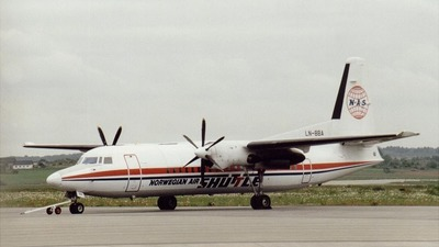 LN-BBA - Fokker 50 - Norwegian Air Shuttle