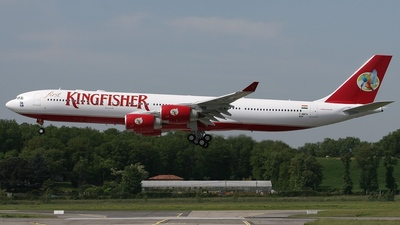 F-WWTH - Airbus A340-541 - Kingfisher Airlines