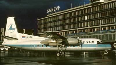 LX-LGB - Fokker F27-500 Friendship - Luxair - Luxembourg Airlines