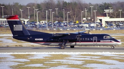 N343EN - Bombardier Dash 8-Q311 - US Airways Express (Piedmont Airlines)