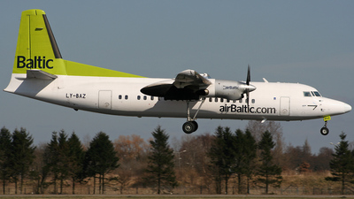 LY-BAZ - Fokker 50 - Air Baltic