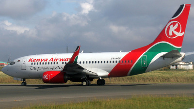 5Y-KQE - Boeing 737-76N - Kenya Airways