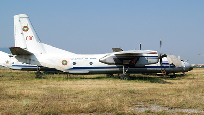 080 - Antonov An-26 - Bulgaria - Air Force