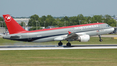 N314US - Airbus A320-211 - Northwest Airlines
