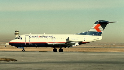 C-GTUU - Fokker F28-1000 Fellowship - Canadian Regional Airlines