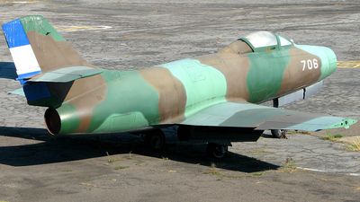 706 - Dassault MD.450 Ouragan - El Salvador - Air Force