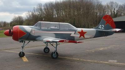 G-CBRU - Yakovlev Yak-52 - Private