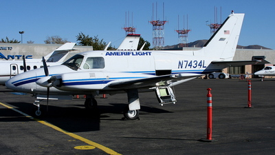 A picture of N7434L - Piper PA31310 - [31822] - © mike evans