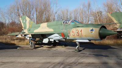 5531 - Mikoyan-Gurevich MiG-21 Fishbed - Hungary - Air Force