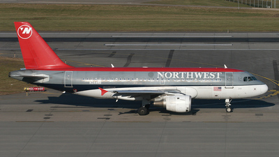 N344NB - Airbus A319-114 - Northwest Airlines