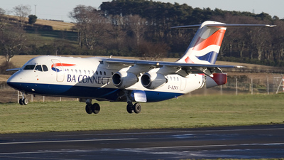 G-BZAX - British Aerospace Avro RJ100 - BA Connect
