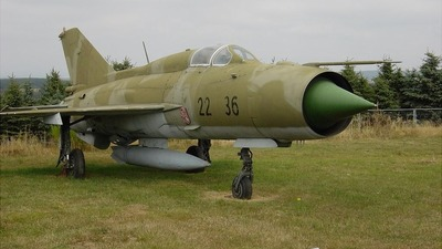 22-36 - Mikoyan-Gurevich MiG-21PFM Fishbed - Germany - Air Force
