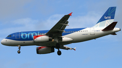 G-DBCB - Airbus A319-131 - bmi British Midland International