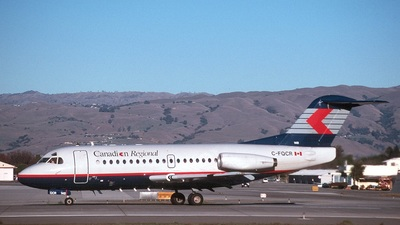 C-FQCR - Fokker F28-1000 Fellowship - Canadian Regional Airlines