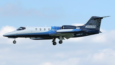 N565GG - Gates Learjet 35A - Private