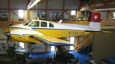 A-713 - Beechcraft E50 Twin Bonanza - Switzerland - Air Force