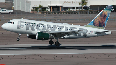 N801FR - Airbus A318-111 - Frontier Airlines