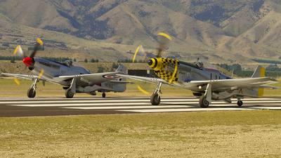 ZK-SAS - North American P-51D Mustang - JetFlights Wanaka