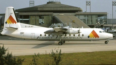 G-JEAF - Fokker F27-500 Friendship - Jersey European Airways