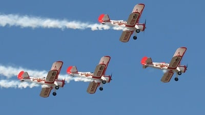 N805RB - Boeing PT-17 Kaydet - Red Baron Pizza Squadron