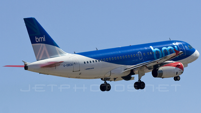 G-DBCA - Airbus A319-131 - bmi British Midland International