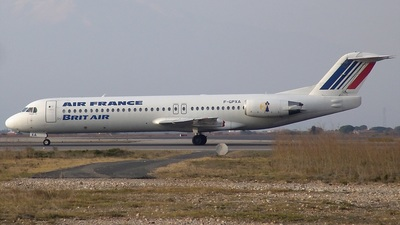 F-GPXA - Fokker 100 - Air France (Brit Air)
