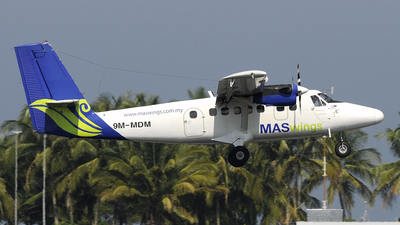 9M-MDM - De Havilland Canada DHC-6-300 Twin Otter - MASWings