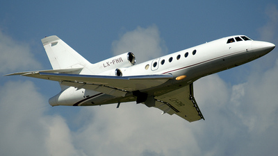 A picture of LXFMR - Dassault Falcon 50 - [165] - © Paul Denton