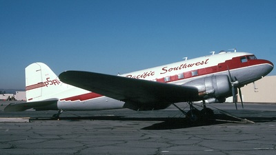 N47TF - Douglas DC-3C - Pacific Southwest Airlines (PSA)