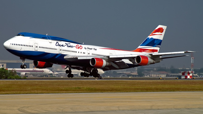 HS-UTK - Boeing 747-306(M) - One-Two-GO by Orient Thai
