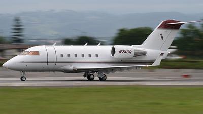 A picture of N74GR - Bombardier CL601 Challenger - [3001] - © Tomás Cubero Maingot - SJO Spotter