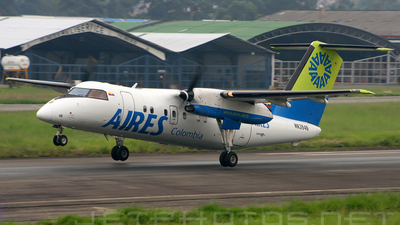 HK-3946 - Bombardier Dash 8-103 - Aires Colombia