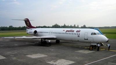 PK-PFZ - Fokker 100 - Pelita Air