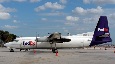 N721FE - Fokker F27-500F Friendship - FedEx Feeder (Mountain Air Cargo)