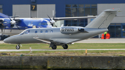 G-PWNS - Cessna 525 CitationJet 1 - Private