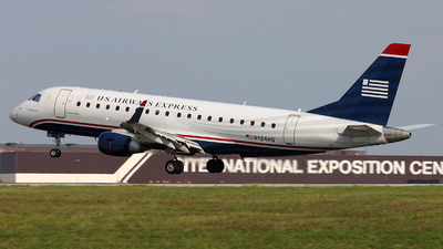 N124HQ - Embraer 170-200LR - US Airways Express (Republic Airlines)