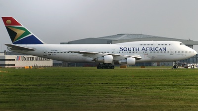 ZS-SAU - Boeing 747-344 - South African Airways