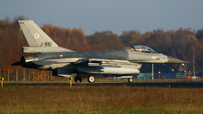 J-881 - General Dynamics F-16AM Fighting Falcon - Netherlands - Royal Air Force