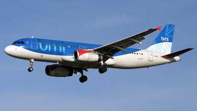 G-MIDU - Airbus A320-232 - bmi British Midland International